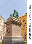 Small photo of PRAGUE, CZECH REPUBLIC - MAY 11, 2015: Monument to Josef Jungmann in Prague. Jungmann (1773-1847) was a Bohemian poet and linguist, and a leading figure of the Czech National Revival