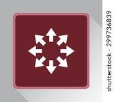 arrows sign icon  vector... | Shutterstock .eps vector #299736839