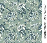 ethnic floral seamless pattern. ... | Shutterstock .eps vector #299760767