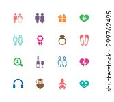 couple  love icons universal... | Shutterstock . vector #299762495