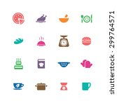 cooking icons universal set for ... | Shutterstock . vector #299764571
