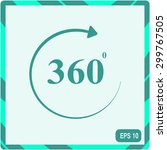 angle 360 degrees sign icon | Shutterstock .eps vector #299767505