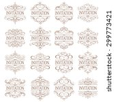 vector set   calligraphic... | Shutterstock .eps vector #299773421