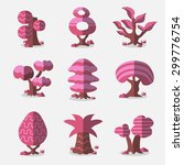 vector pink trees collection   Shutterstock .eps vector #299776754