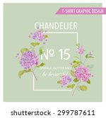 floral graphic design   for t... | Shutterstock .eps vector #299787611