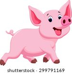 cute pig cartoon | Shutterstock .eps vector #299791169