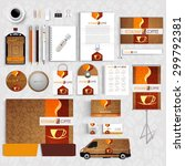 corporate identity menu... | Shutterstock .eps vector #299792381