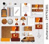 corporate identity menu... | Shutterstock .eps vector #299792381