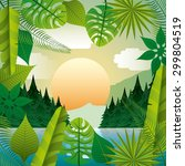 tropical nature design  vector... | Shutterstock .eps vector #299804519