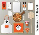 vector pizzeria corporate... | Shutterstock .eps vector #299804591