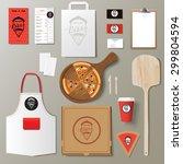 vector pizzeria corporate...   Shutterstock .eps vector #299804594