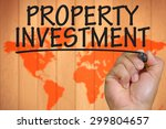 the hand writing property... | Shutterstock . vector #299804657