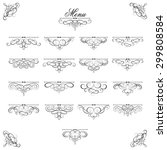 vector set   calligraphic...   Shutterstock .eps vector #299808584