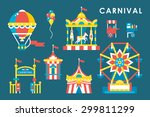 flat style carnival infographic ... | Shutterstock .eps vector #299811299
