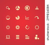 diagram icons universal set for ... | Shutterstock . vector #299816084