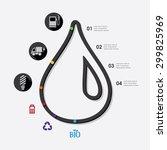ecology infographic | Shutterstock .eps vector #299825969
