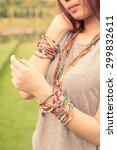 female with bracelets | Shutterstock . vector #299832611