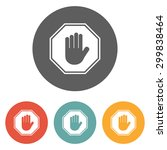 stop icon   Shutterstock .eps vector #299838464