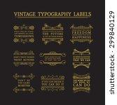 vintage headline calligraphic... | Shutterstock .eps vector #299840129