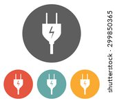 electric plug icon | Shutterstock .eps vector #299850365