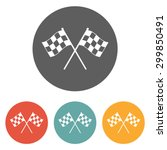 racing flag icon | Shutterstock .eps vector #299850491