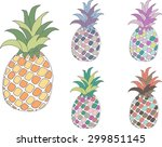 set of collection colorfull... | Shutterstock .eps vector #299851145