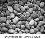 round stone texture in black... | Shutterstock . vector #299864225