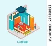 isometric education e learning... | Shutterstock .eps vector #299868995