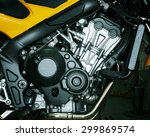 Motorcycle Engine Detail Of...