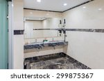 modern elegant sink in bathroom | Shutterstock . vector #299875367