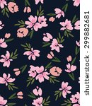 seamless floral pattern. vector ... | Shutterstock .eps vector #299882681