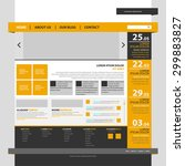 one page website template design | Shutterstock .eps vector #299883827