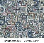 hexagon  pattern | Shutterstock .eps vector #299886344