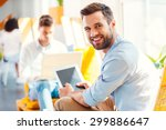 confident young businessman.... | Shutterstock . vector #299886647