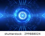 abstract vector hi speed... | Shutterstock .eps vector #299888024