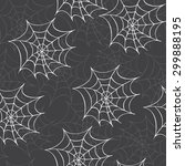 cobweb seamless pattern. vector ... | Shutterstock .eps vector #299888195