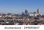 Small photo of Sandton, Gauteng, South Africa - July 17, 2015: Cityscape looking Northwest towards the Sandton skyline (financial hub of South Africa).