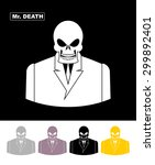 mr death. skull businessman.... | Shutterstock .eps vector #299892401