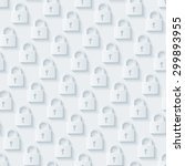 light gray padlocks wallpaper.... | Shutterstock .eps vector #299893955