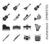 musical instruments icon set  | Shutterstock .eps vector #299895701