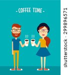 Hipsters Couple. Boy And Girl...
