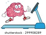 healthy brain cartoon character ... | Shutterstock .eps vector #299908289