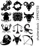 zodiac set black | Shutterstock . vector #29992753