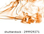 Abstract Orange Smoke On White...