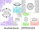 wedding invitation cards with... | Shutterstock . vector #299933105