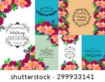 wedding invitation cards with...   Shutterstock . vector #299933141