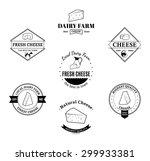 vector cheese logo  label... | Shutterstock .eps vector #299933381