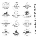 vector cheese logo  label and... | Shutterstock .eps vector #299933399