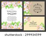 delicate invitation card of... | Shutterstock .eps vector #299934599