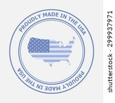 made in united states of... | Shutterstock .eps vector #299937971
